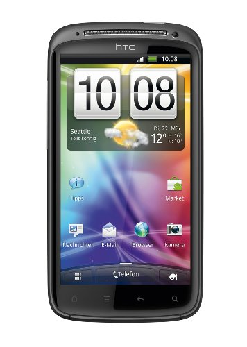 HTC Sensation Smartphone (Android OS, 1.2 GHz dual core Prozessor, 8 MP Kamera) dunkelgrau