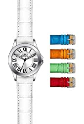 Invicta Angel White Dial Leather Strap Ladies Watch 15935