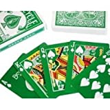 Green Deck (Face & Back) with Gaff Cards - Bicycle Poker Size Playing Cardsby USPCC