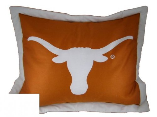 College Texas Longhorns Burnt Orange Collegiate Pillow Sham