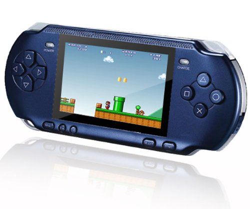 Blue Slimstation 16 Bit Handheld Computer Games Console with 131 Retro Games.