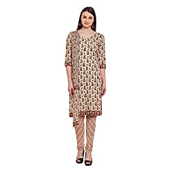 Pinkshink Brown Pure Cotton Salwar Kameez Dress Material k57