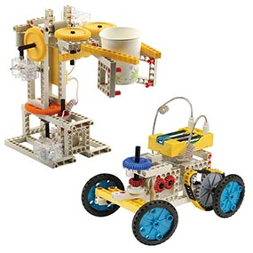Build 10 remote control models <i>embracing a</i>  robot and an antique car