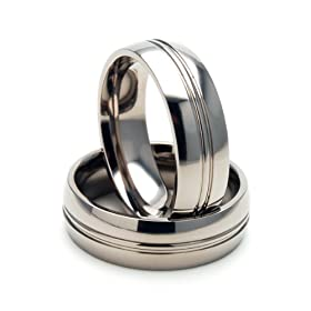 New 6mm Titanium Ring w/ Comfort Fit Band 100's of Sizes & Styles Available
