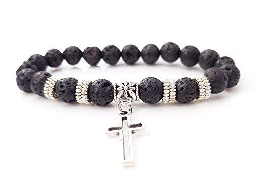 volcano-stone-bracelet-cross-pendant