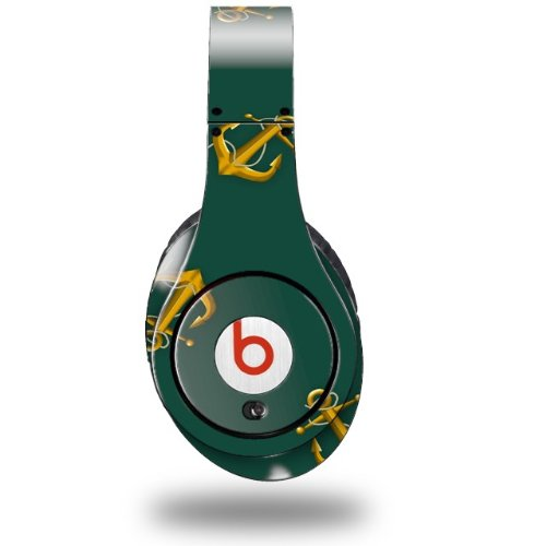 Anchors Away Hunter Green Decal Style Skin (Fits Original Beats Studio Headphones - Headphones Not Included)