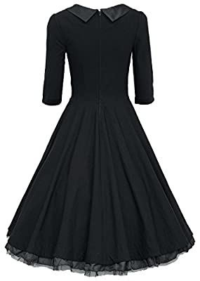 MUXXN® Ladys 1950s Rockabillty 3/4 Sleeve Swing Vintage Dress