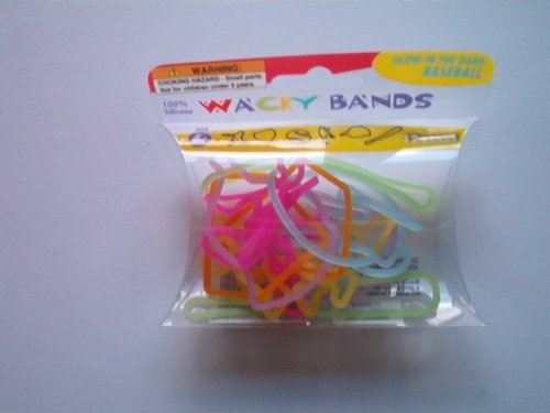 100% Silicone Wacky Hair Bands, 12 Bands - 1