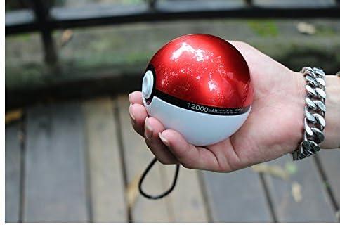 モンスターボール モバイルバッテリー スマホ 充電器 超大容量 12000mAh 2USBポートコンパクト ポケモンGO 急速充電 iPhone / iPad / Xperia / Galaxy / Nexus / Android各種他対応