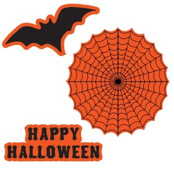 Halloween Spooky Scenes Cutouts 12 Per Pack - 1