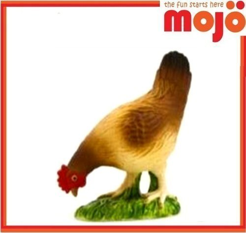 Mojo Fun 387053 Colorful Hen Pecking- Realistic Barnyard Farm Chicken