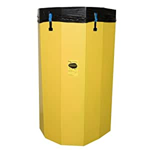 Bagger Bin (TM) Pop Open Trash Bag Holder,contractor's , extra large, yellow for 55-gal bags