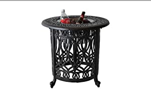 Heritage Outdoor Living Elisabeth Cast Aluminum End Ice Round Table - Antique Bronze from Heritage Outdoor Living