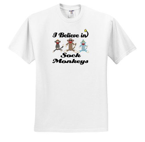 Dooni Designs I Believe In Designs - I Believe In Sock Monkeys - T-Shirts