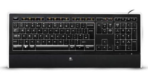 Logitech K740 beleuchtete Tastatur (italienisches Tastaturlayout) schwarz