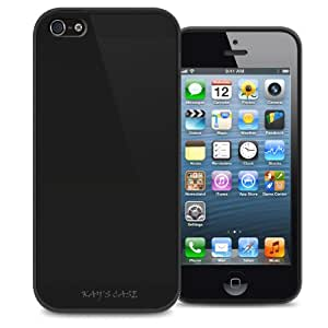 KAYSCASE Slim Soft Gel Cover Case for Apple new iPhone 5 / iPhone 5S, Retail Packaging with Screen Protector (Black)