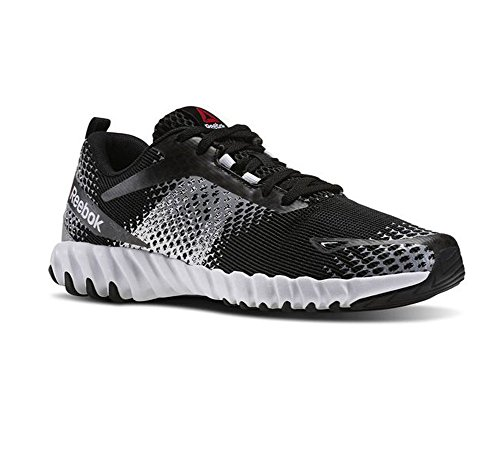 Reebok Men's Twistform Blaze MT Running Shoe, Black/White/Tin Grey, 11