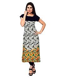Saiveera Fashion New Arrival Women's Crepe Long Kurtis (VAT157_MultiColoured_Small)