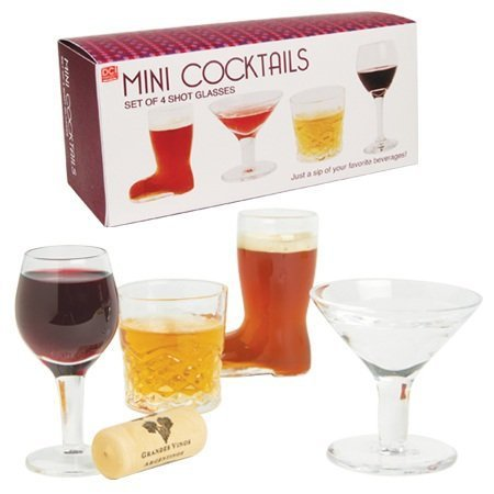 Mini Cocktail Shot Glass Set (Mini Martini compare prices)