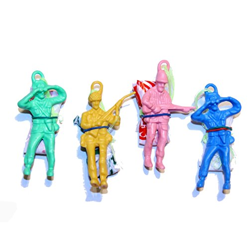 Dazzling Toys Vinyl Paratroopers Assortment Bulk (6 Dozen) Makes a Nice Decoration to Any Matching Themed Party