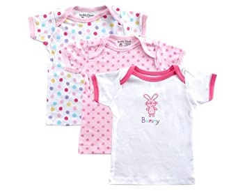 3-Pack Hanging Tee Tops, Bunny, 0-3 months