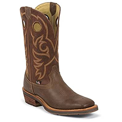1828 Justin Men's 1879 Cowboy Western Boots - Red Brick - 14.0\D
