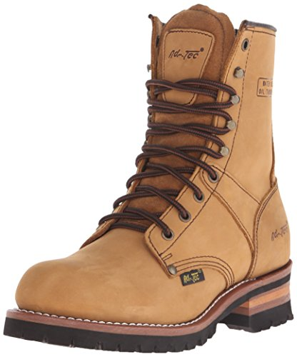 AdTec Men's 9 Inch Logger Boot, Brown, 8 W US