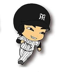 阪神タイガース 選手CUTEラバーストラップ:7番・西岡選手