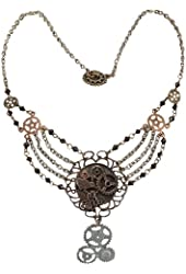 Elope Women's Steampunk Gear Chain Antique Necklace Adult
