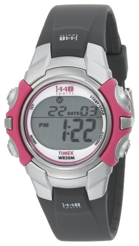 Timex 1440 Sport T5J151 4E Digital Women's Quartz Watch with Black Resin Strap