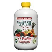 buy Vegwash Fruit & Vegetable Wash Concentrate - Only $0.07 / Oz. + Its Organic!