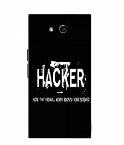 Make My Print Hacker Slogan Printed Black Soft Silicon Back Cover For LYF Wind 4