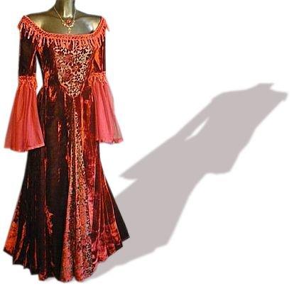 gothic kleider beste angebot mittelalter gothic kleid chiffon lang rot gr e xxl. Black Bedroom Furniture Sets. Home Design Ideas