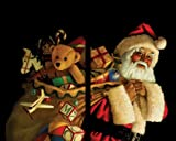 WOWindow Posters Santa with Toy Sack Christmas Window Decoration, Includes Two 3 by 5 feet Posters