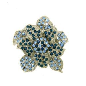 Swarovski Crystal Enamel Flower Pin/ Brooch (1/2