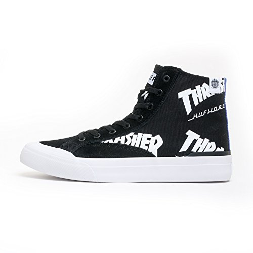HUF Men's X Thrasher Classic Hi Skateboarding Shoe, Black, 8 US/8 M US