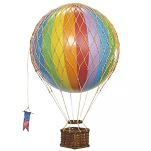 Travels Light Hot Air Balloon Model, Rainbow Colors