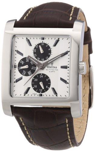 Festina F16235/G - Reloj analógico de cuarzo para hombre con correa de piel, color marrón
