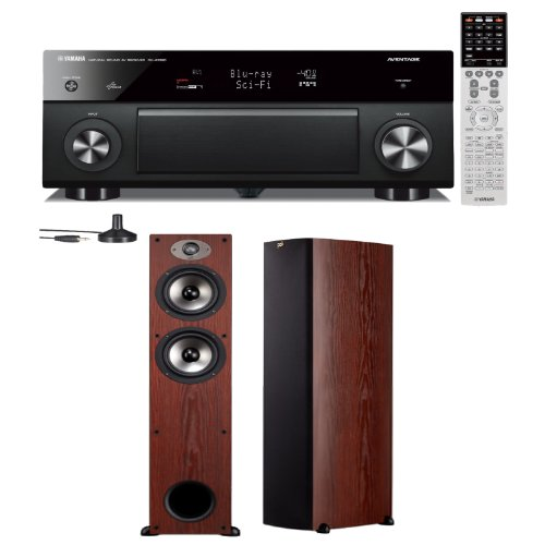 Yamaha Rx-A1030 7.2 Channel Network Aventage Receiver Plus A Pair Of Polk Audio Tsx 330T Floorstanding Speakers (Cherry)