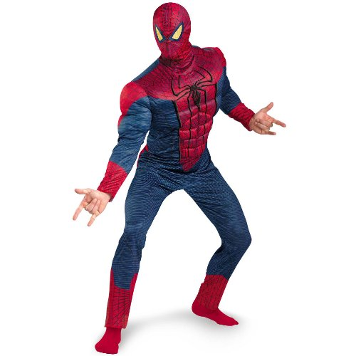 The Amazing Spider-Man 3D Movie Classic Muscle Adult Costume (XLarge 42-46)