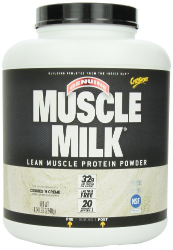 Cytosport - Muscle Milk Genuine Lean Protein Gainer Powder Drink Mix Cookies N' Creme - 4.94 Lbs