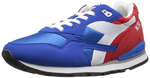 Diadora Men's N-92 Running Shoe, Poppy Red/Imperial Blue,10 M US