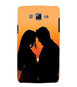 printtech Love Couple Sunset Back Case Cover for Samsung Galaxy J7 (2016 )