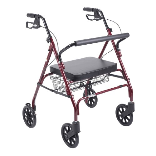 Drive Medical 10215Rd-1 Go-Lite Rollator Oversize, Red front-974447