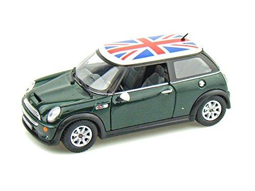 Mini Cooper S w/British Flag 1/28 Green
