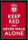 Framed – Liverpool – Keep Red – Official Poster – 37 x 25 inches