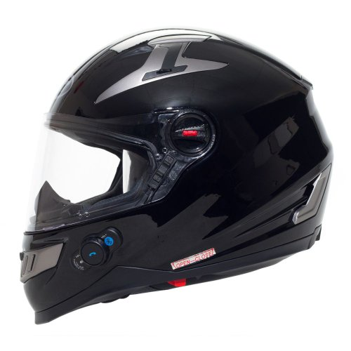 BILT Techno Bluetooth Full-Face Motorcycle Helmet – MD, Black