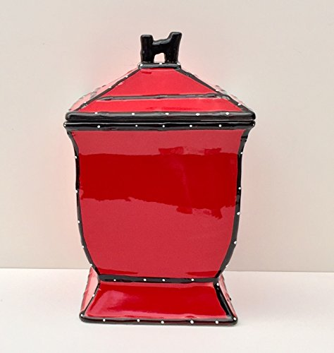 Tuscany Hand Painted Red Ruffle Cookie Jar, 85276 by ACK (Red Apple Cookie Jar compare prices)