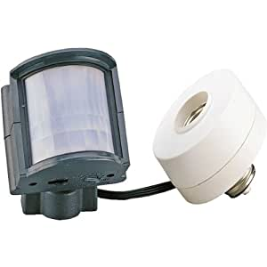 Heath/Zenith SL-5211-GR-A Screw-In Motion Sensor Light Control, Gray