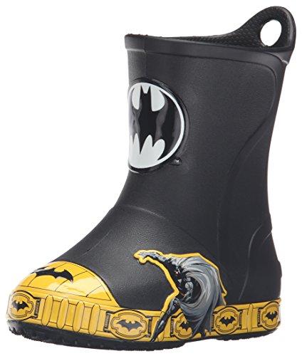 Crocs Bump It Batman Boot K, Sneaker a Collo Alto Bambini e Ragazzi, Nero, 25/26 EU